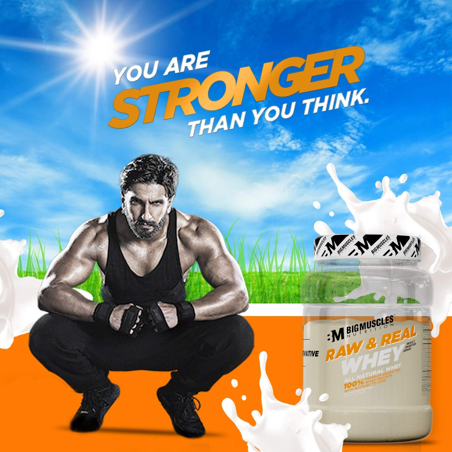 Bigmuscles Nutrition Raw Whey Protein Concentrate 80% 1Kg
