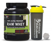Advance MuscleMass Raw Whey Protein Concentrate 80% 1Kg (With Shaker)