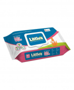 Little's Soft Cleansing Baby Wipes with Lid Pack (80 Pcs.)