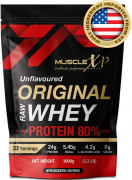 MuscleXP Raw Whey Protein Concentrate 80% 1Kg