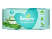 Pampers Baby Gentle Wet Wipes with Aloe Vera (72 Pcs)